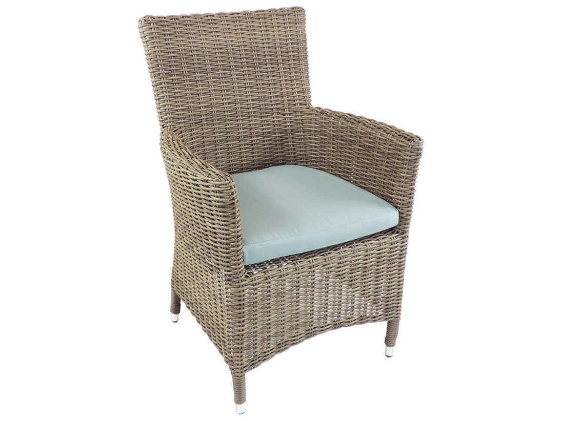 Patio heaven malibu wicker dining chair paphmacgsr for Patio heaven