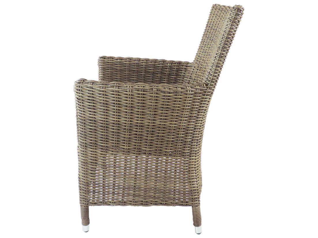 Patio heaven malibu wicker dining chair ph mac gsr for Patio heaven