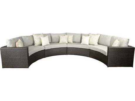 Patio Heaven Vallejo WickerSectional 4Signature - PalisadesPiece Set