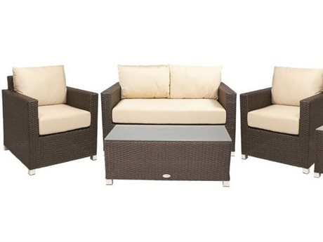Patio Heaven Venice Wicker 4Signature - PalisadesPc Conversation Set