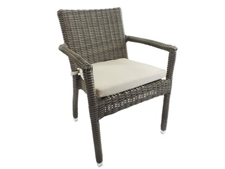 Patio Heaven Venice Wicker Dining Arm Chair