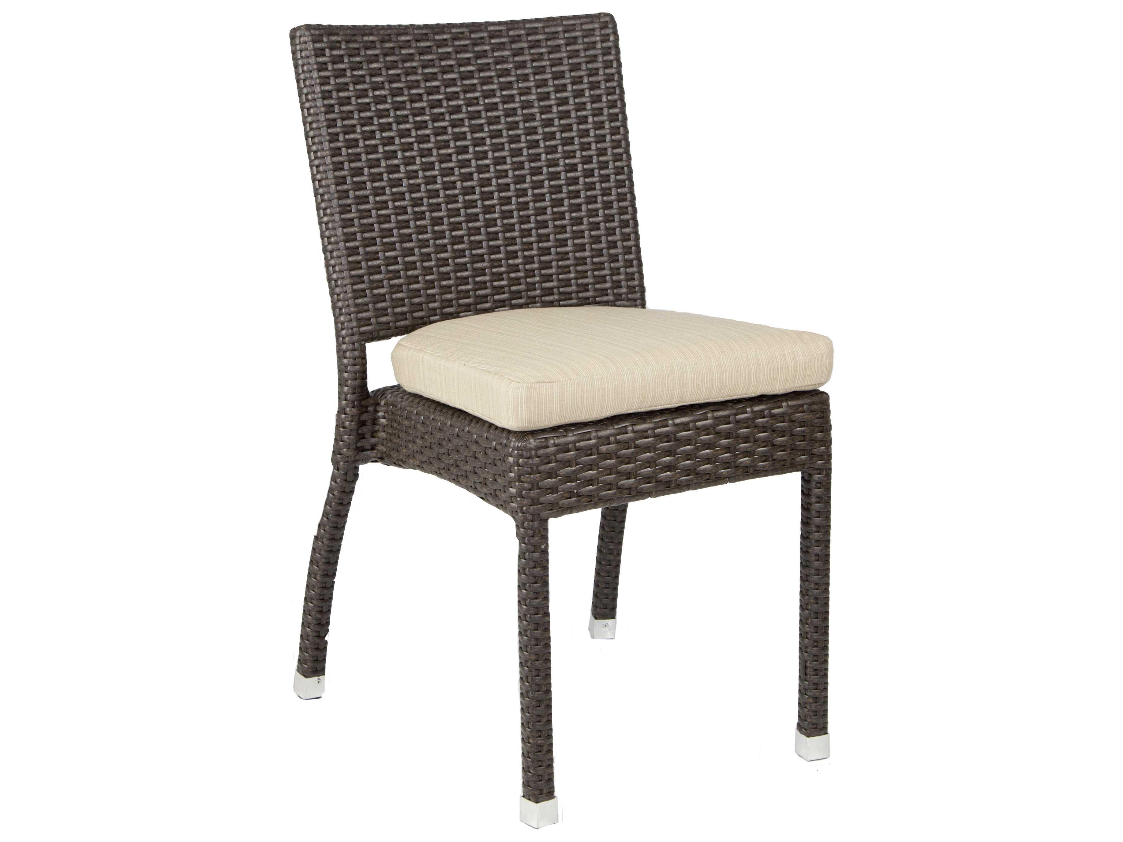 Patio heaven venice zuma wicker side chair paphzsc for Patio heaven