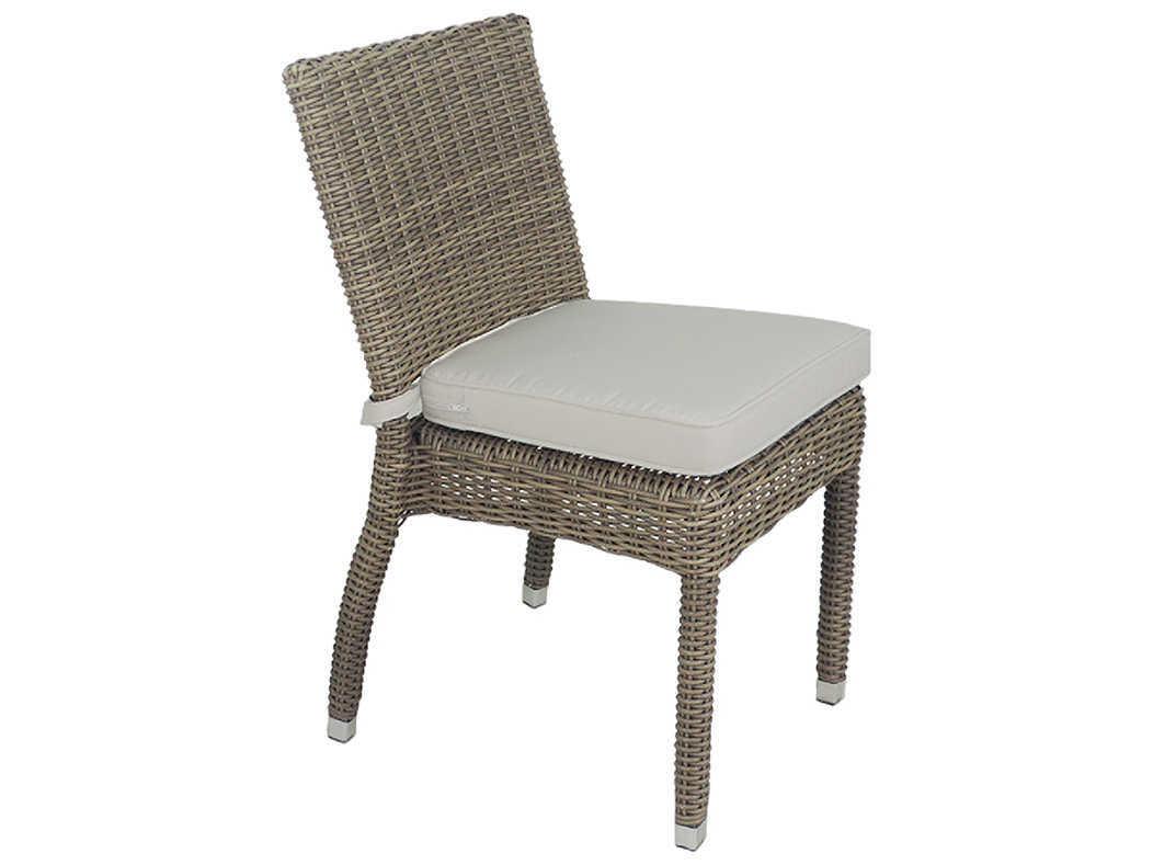 Patio heaven venice wicker dining side chair paphzscgsr for Patio heaven