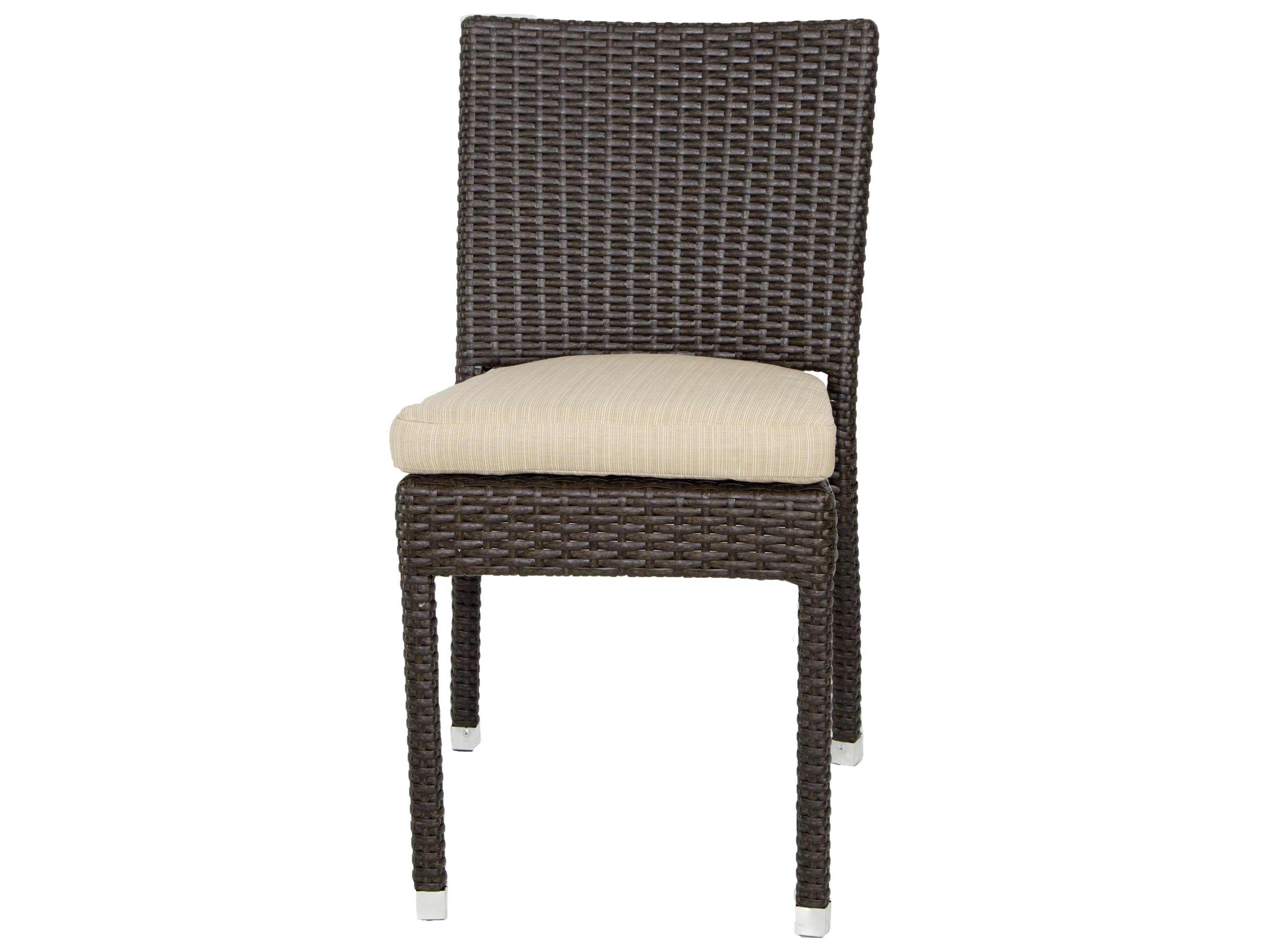Patio Heaven Venice Zuma Wicker Side Chair Paphzsc