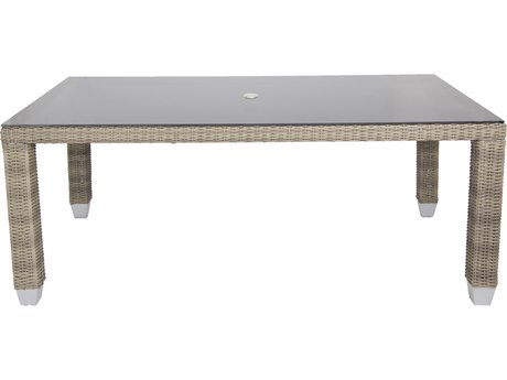 Patio Heaven Palisades Rectangle Dining Table