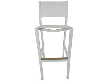 Patio Heaven Riviera Armless Bar Chair White