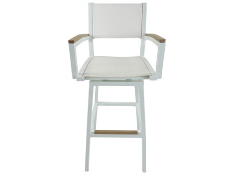 Patio Heaven Riviera Swivel Bar Chair White