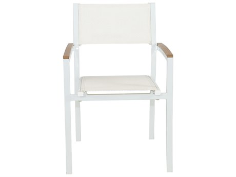 Patio Heaven Riviera Dining Chair White
