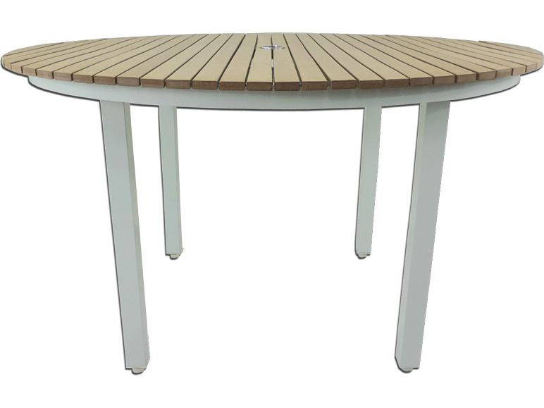 Patio Heaven Riviera Round Dining Table White