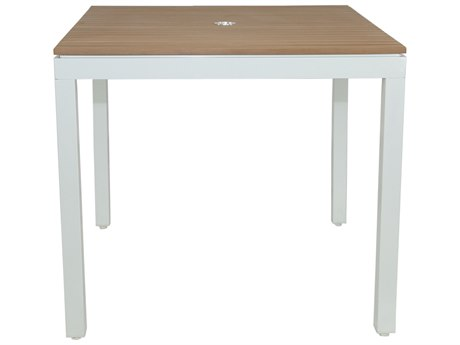 Patio Heaven Riviera Square Dining Table White