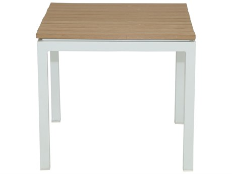Patio Heaven Riviera End Table White