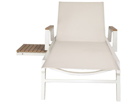 Patio Heaven Riviera Chaise Lounger White