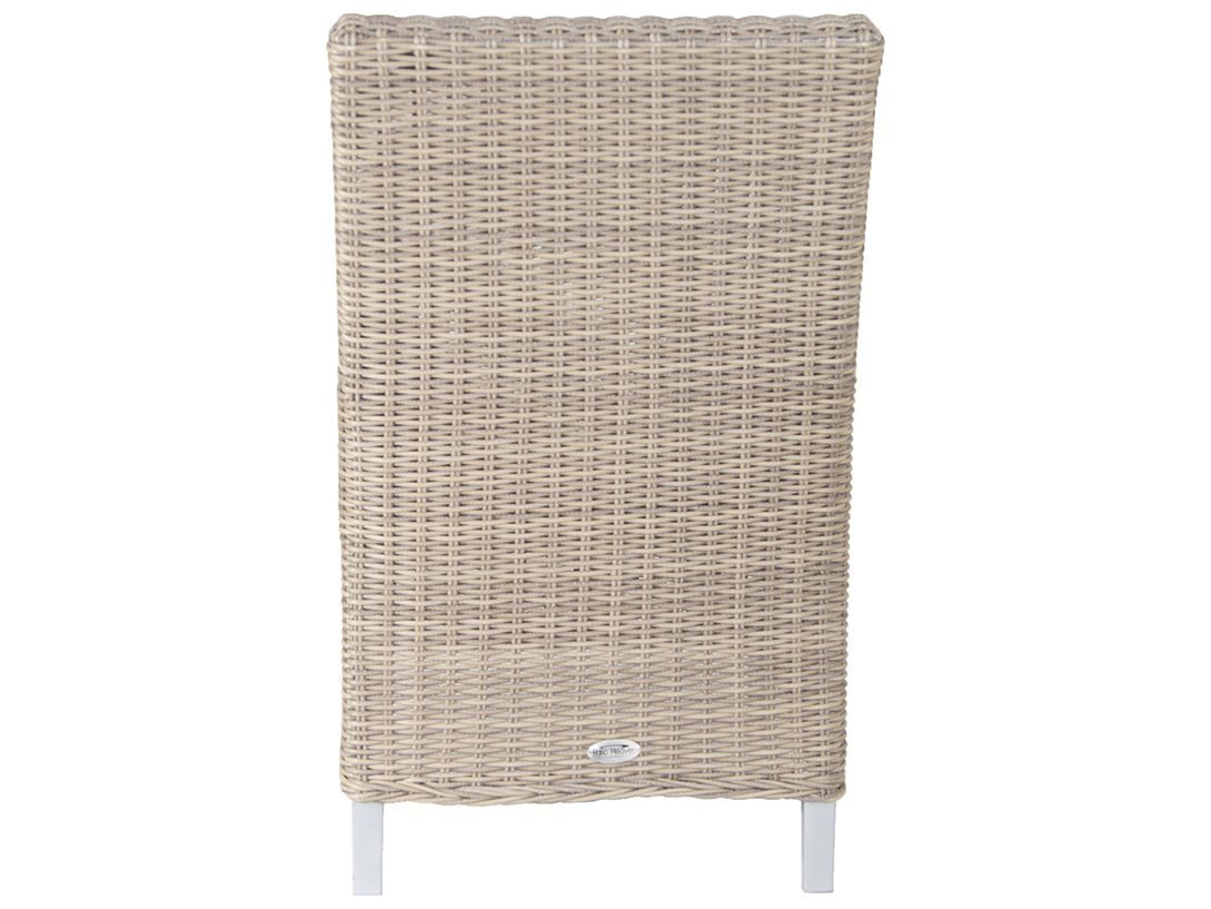Patio heaven signature palisades wicker dining arm chair for Patio heaven