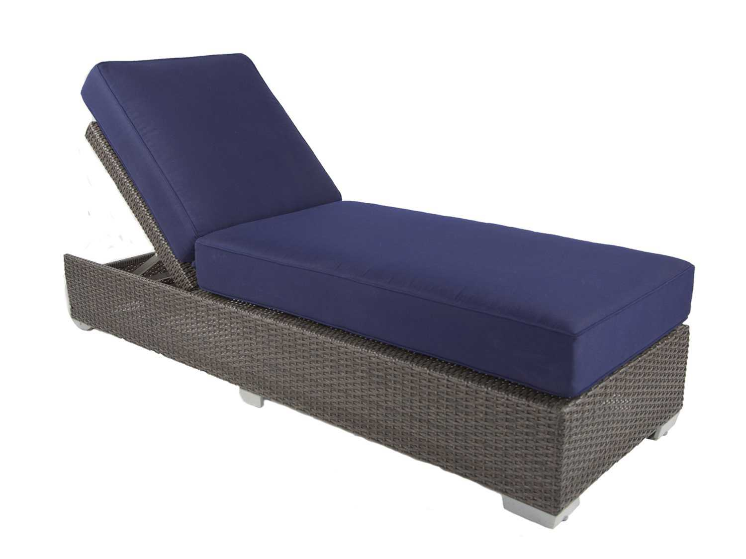 Patio heaven signature wicker single chaise pasbc1 for Chaise longue cushion