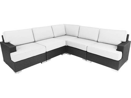 Patio Heaven Signature - Palisades Wicker Modular Sectional 5Signature - PalisadesPc Seating Set