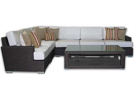 Patio Heaven Signature - Palisades Wicker Modular Sectional 7Signature - PalisadesPc Seating Set