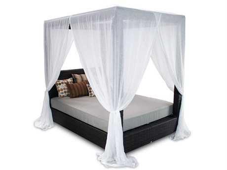 Patio Heaven Signature Wicker Queen Canopy Bed