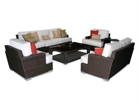 Patio Heaven Signature - Palisades Wicker Lounge Set