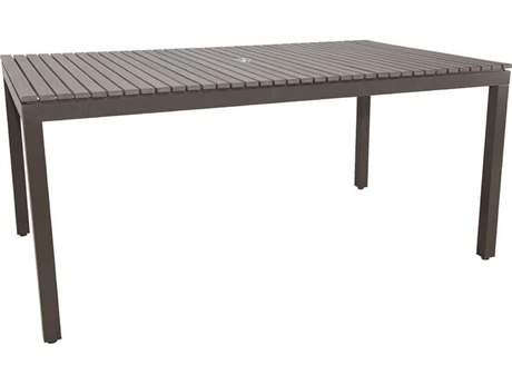 Patio Heaven Riviera Aluminum 84 x 42 Rectangular Dining Table