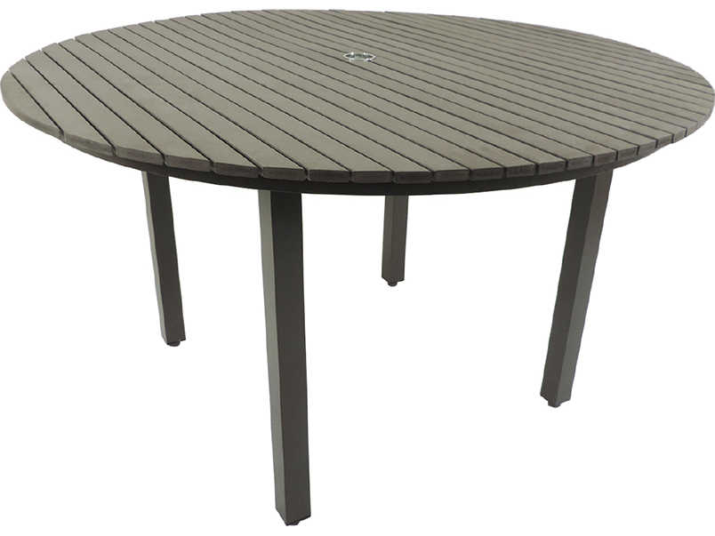 Patio heaven riviera aluminum 52 round dining table for Round table 52 nordenham
