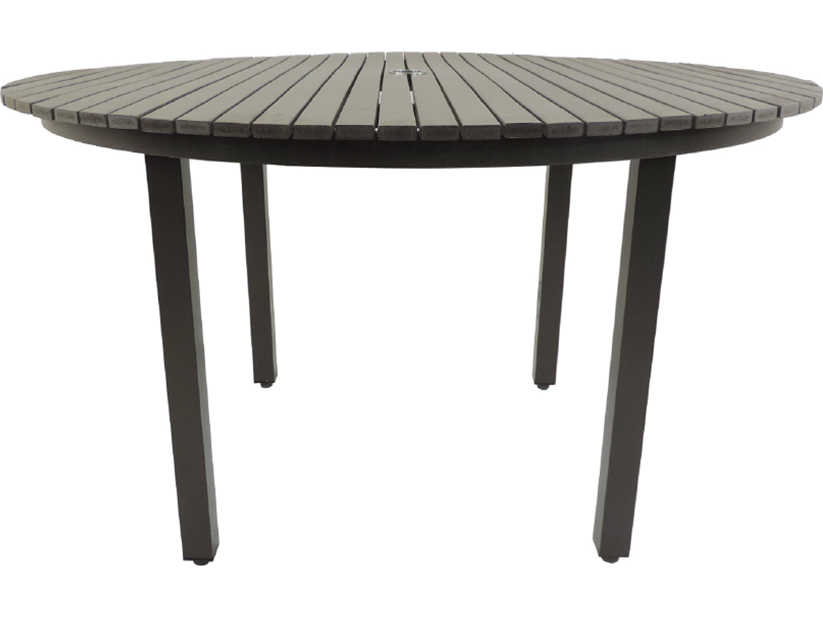 Patio heaven riviera aluminum 52 round dining table for Patio heaven