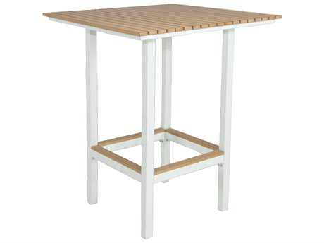 Patio Heaven Riviera Aluminum 32 Square Bar Table Square