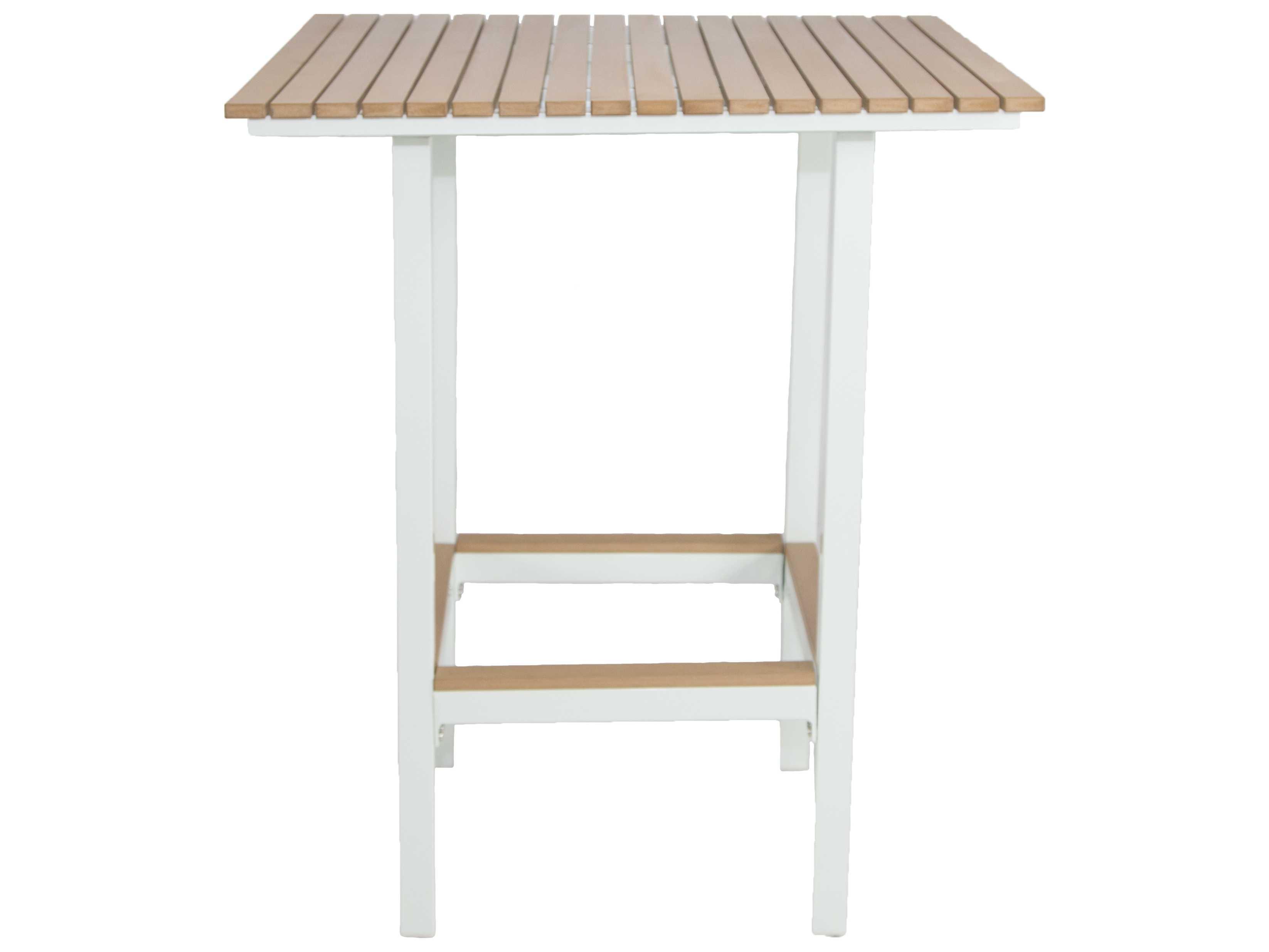 Patio heaven riviera aluminum 32 square bar table square for Patio heaven