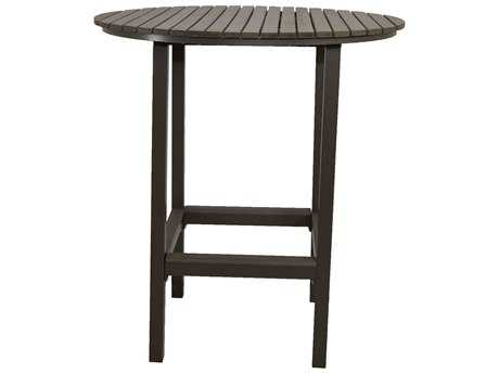 Patio Heaven Riviera Aluminum 36 Round Bar Table Round