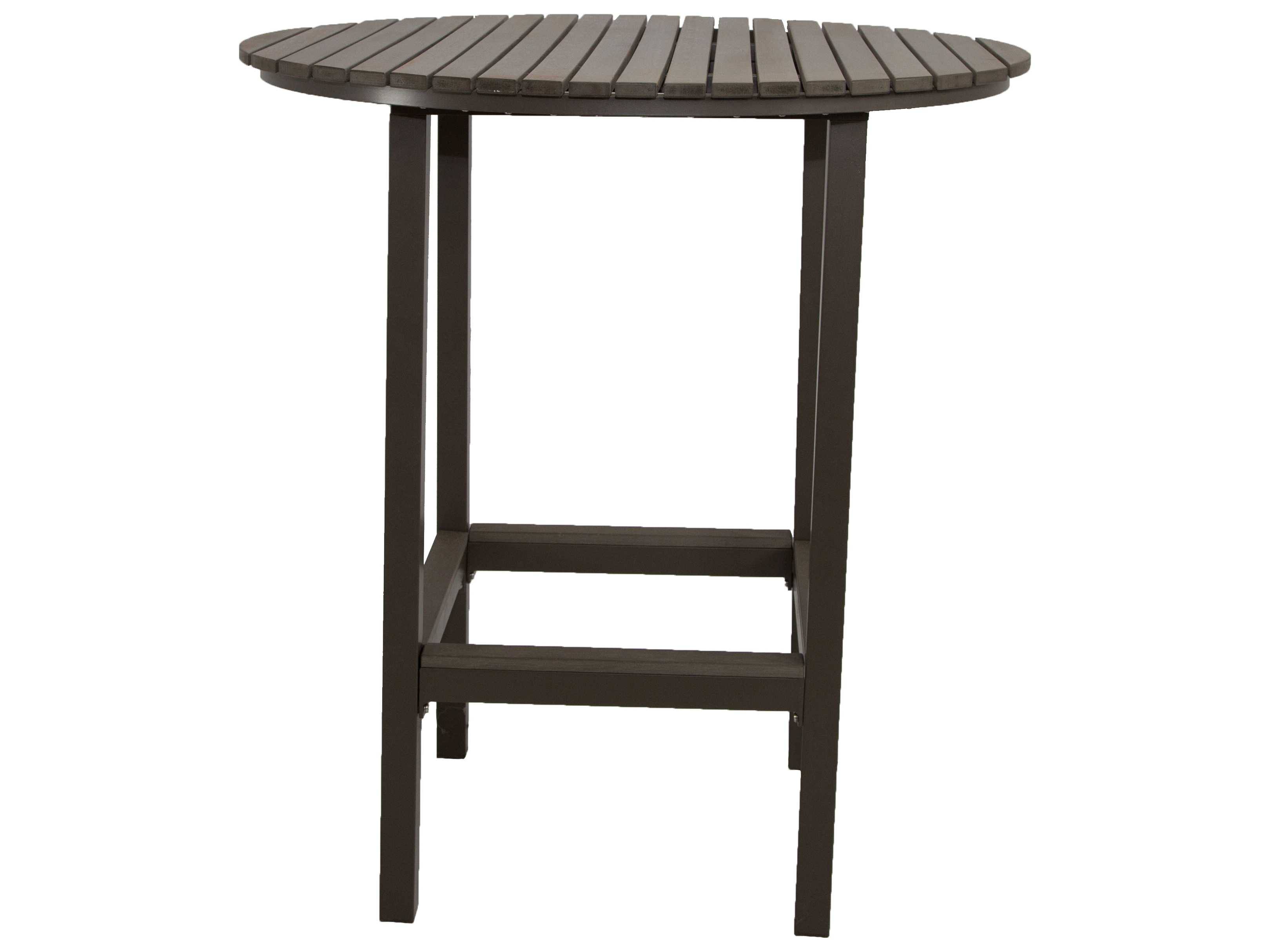 patio heaven riviera aluminum 36 round bar table round patr2270ht4. Black Bedroom Furniture Sets. Home Design Ideas