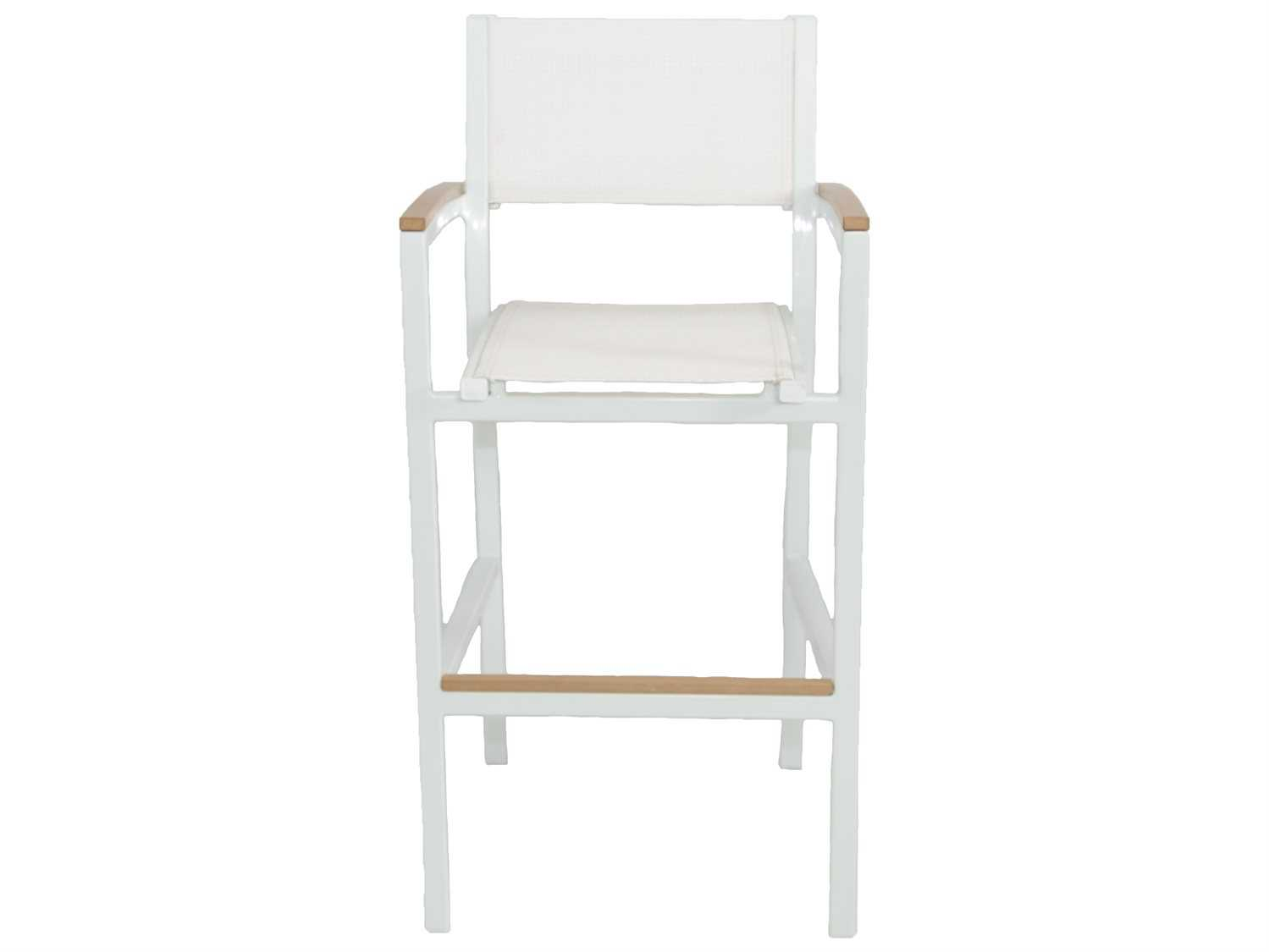 Patio heaven riviera aluminum bar chair with arms patr2270ih for Patio heaven