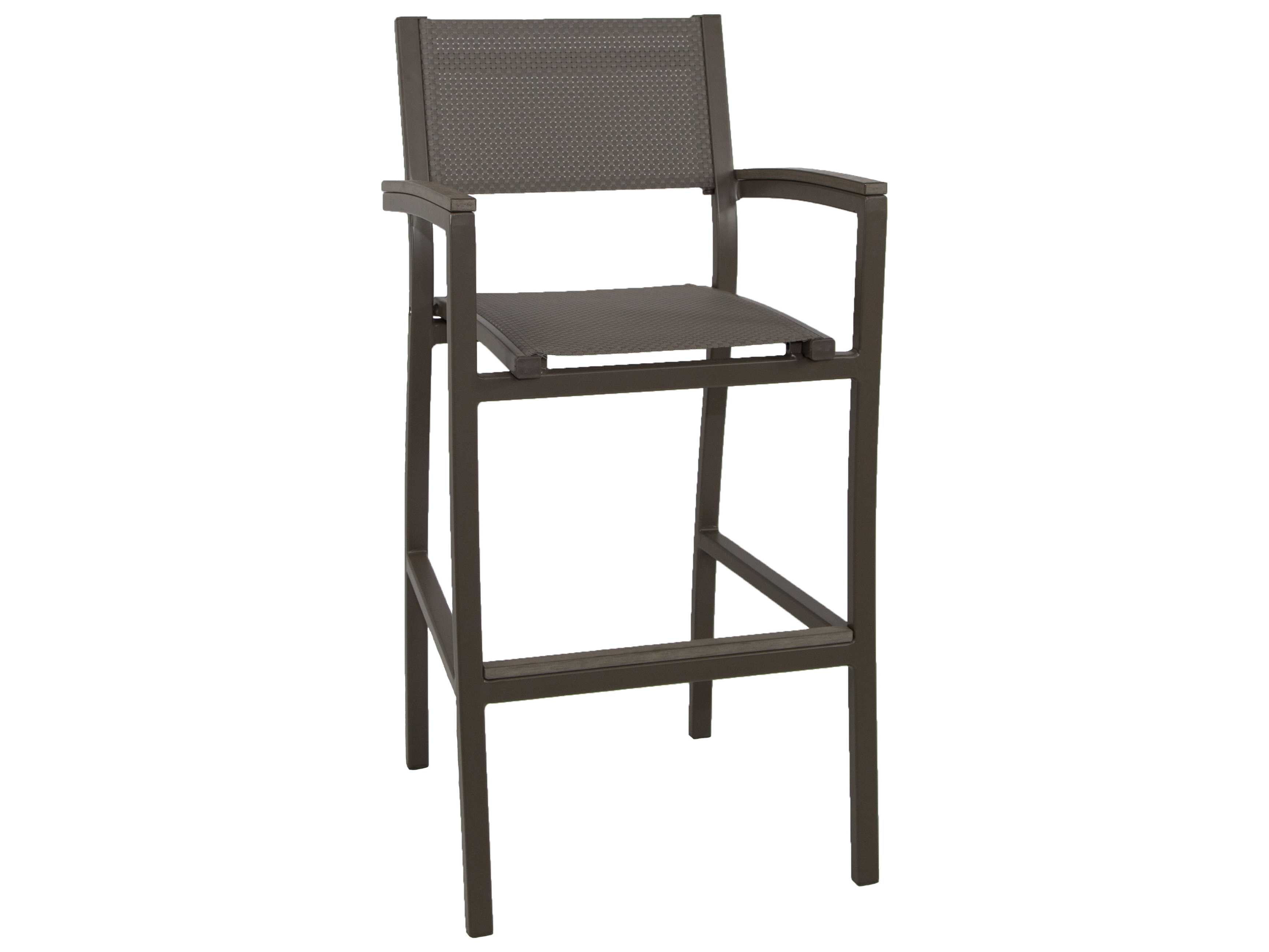 Patio heaven riviera aluminum bar chair with arms