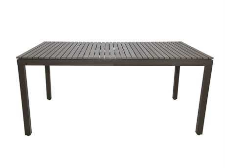 Patio Heaven Riviera Aluminum 65 x 39 Rectangle Dining Table