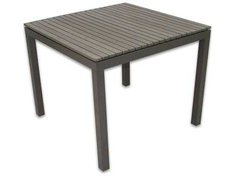 Patio Heaven Riviera Aluminum 35.5 Square Dining Table