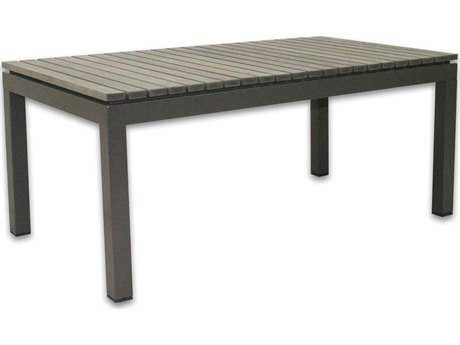 Patio Heaven Riviera Aluminum 39.5 x 21.5 Rectangular Coffee Table