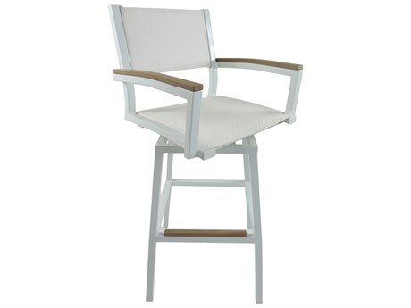 Patio Heaven Riviera Aluminum Swivel Bar Chair