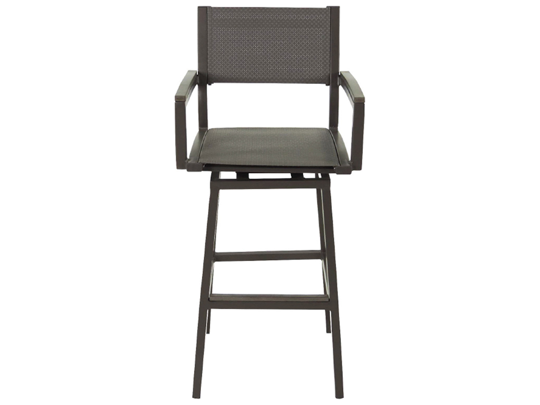 Patio heaven riviera aluminum swivel bar chair patx2270 ihsw for Patio heaven