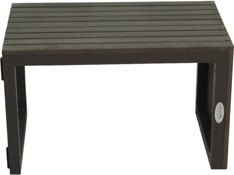 Patio heaven riviera aluminum 15 square utility table ut riv for Patio heaven
