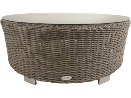 Patio Heaven Vallejo Round Coffee Table-Grey