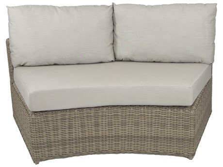 Patio Heaven Vallejo Center Loveseat-Grey