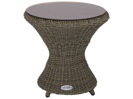 Patio Heaven Vallejo Wave End Table Grey