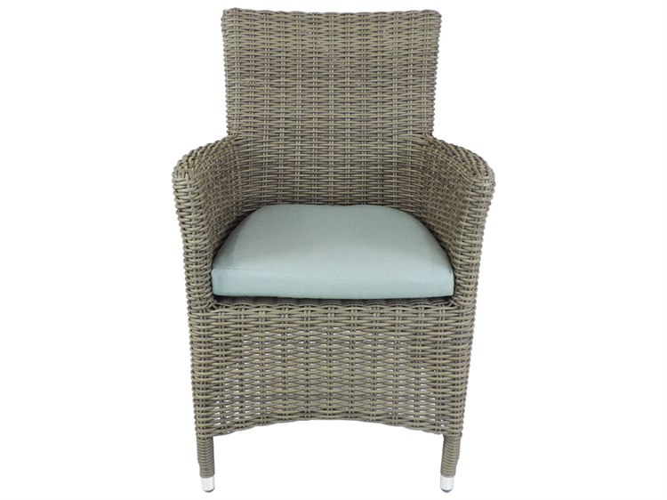 Patio Heaven Venice Curved Dining Chair-Grey
