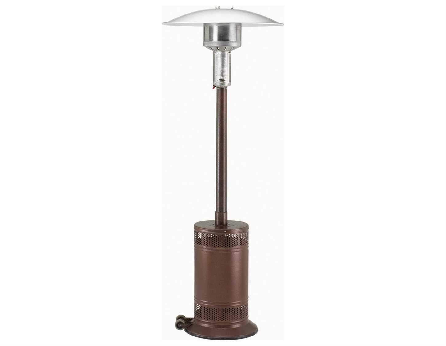 Patio comfort antique bronze steel infrared propane heater for Infrared patio heater vs propane