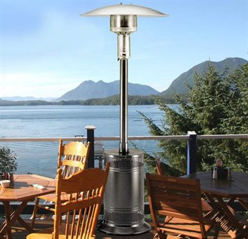 Patio Comfort Jet/Silver Steel Vein Infrared Propane Heater