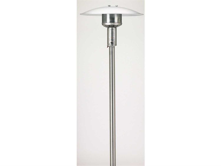 Patio Comfort Permanent Natural Gas Patio Heater With Push Button Ignition - Stainless Steel