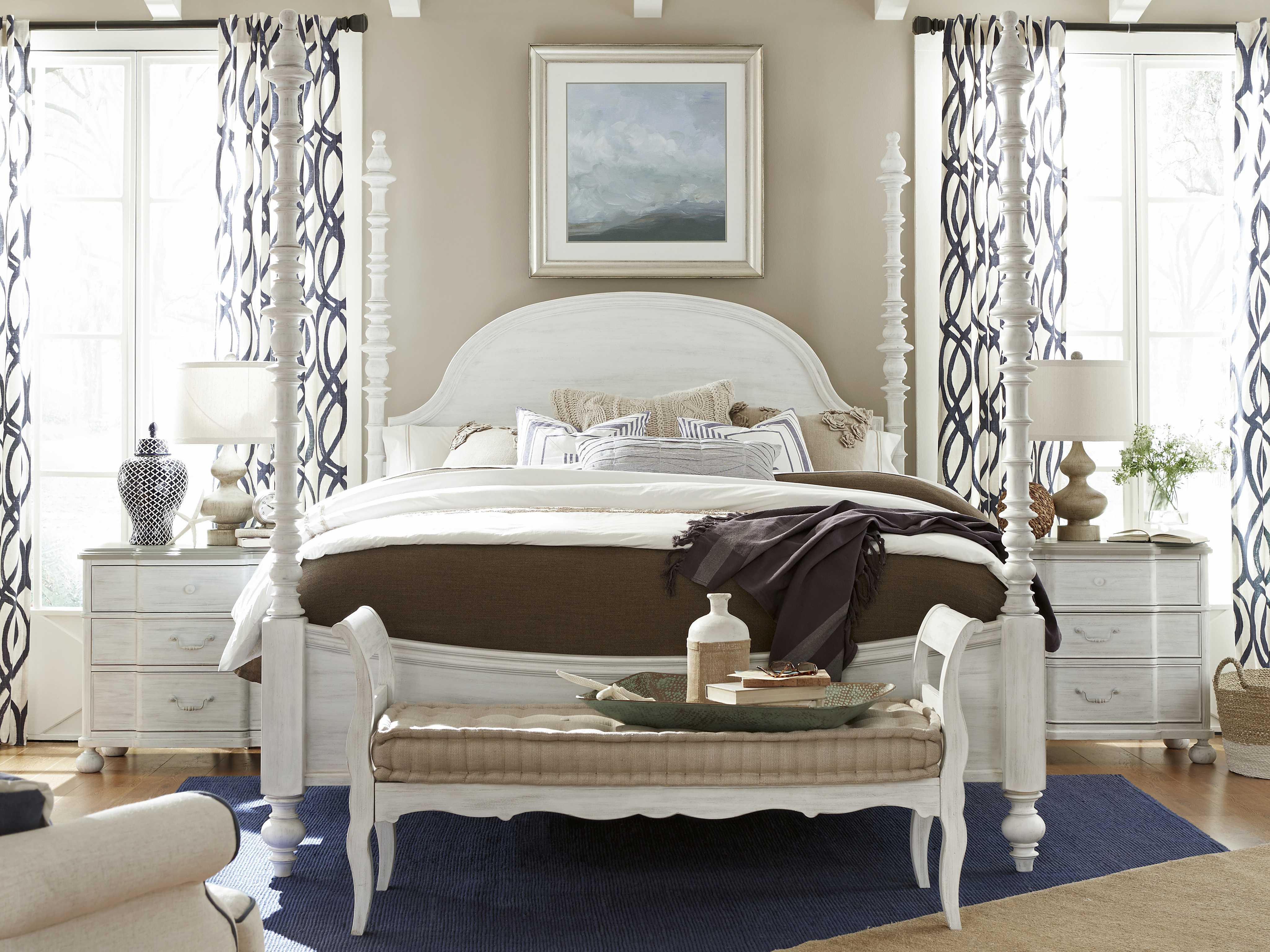 Paula deen home dogwood blossom poster bed bedroom set - Paula deen bedroom furniture collection ...