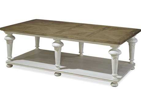 Paula Deen Home Dogwood Blossom with Driftwood Top 63''L x 33''W Rectangular Cocktail Table