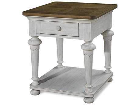 Paula Deen Home Dogwood Blossom with Driftwood Top 24''L x 26''W Rectangular End Table