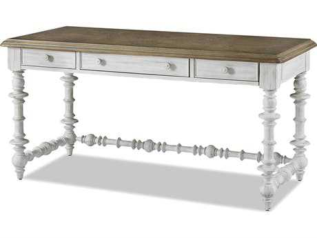 Paula Deen Hone Dogwood Blossom with Driftwood Top 60''L x 28''W Rectangular Note Worthy Desk