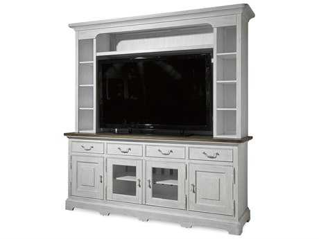 Paula Deen Home Dogwood Blossom with Driftwood Top 80''L x 22''W Entertainment Console with Deck