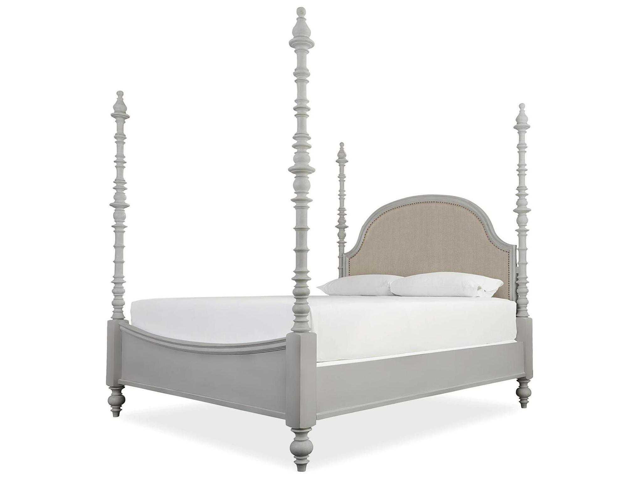Paula Deen Home Dogwood Cobblestone King Size Poster Bed